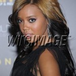 "Angela Simmons wearing the ""Melanie"" earrings"