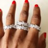 chunky crystal ring melaniemarie.com